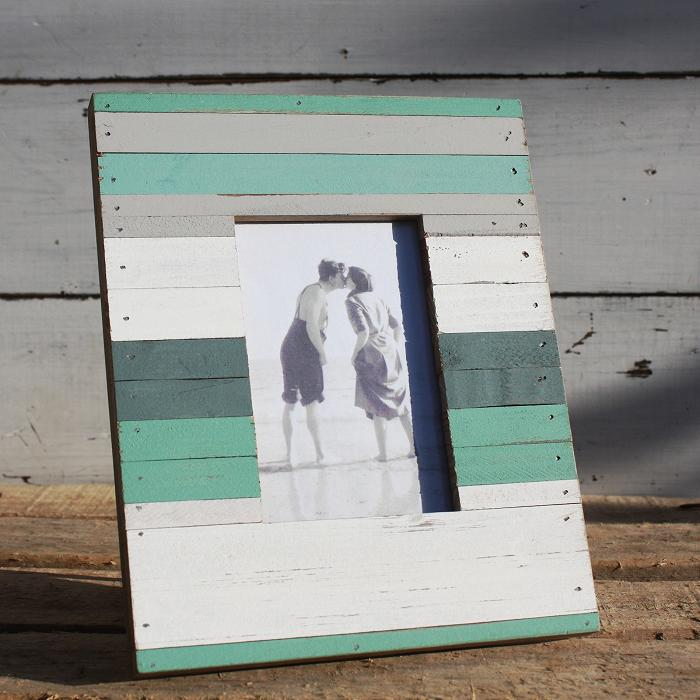 Beach hut style photo frame wooden photo frame buy the sea for Beach hut style