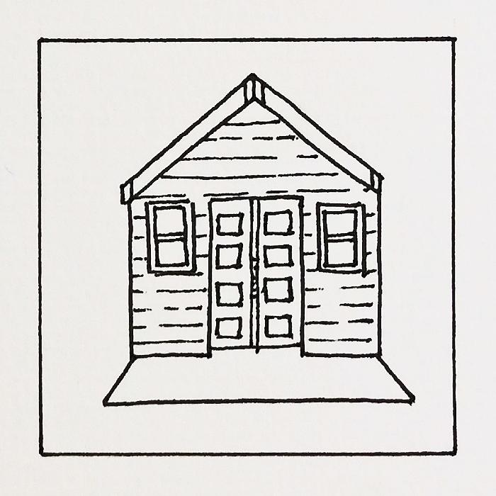 Beach Huts Free Colouring Pages