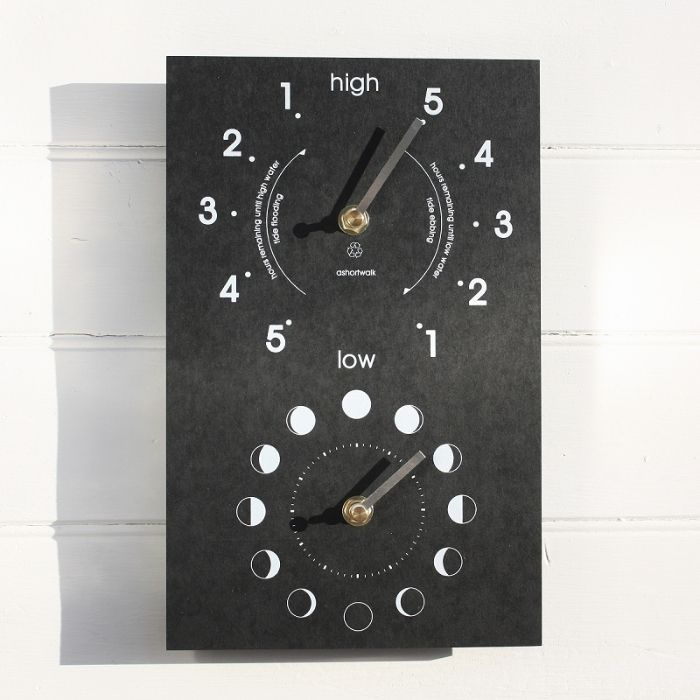 Eco Moon Phase Clock Tide Clock Wall Clocks
