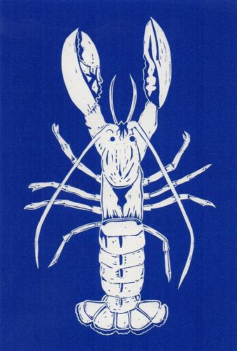 Blue Lobster - Coastal Card