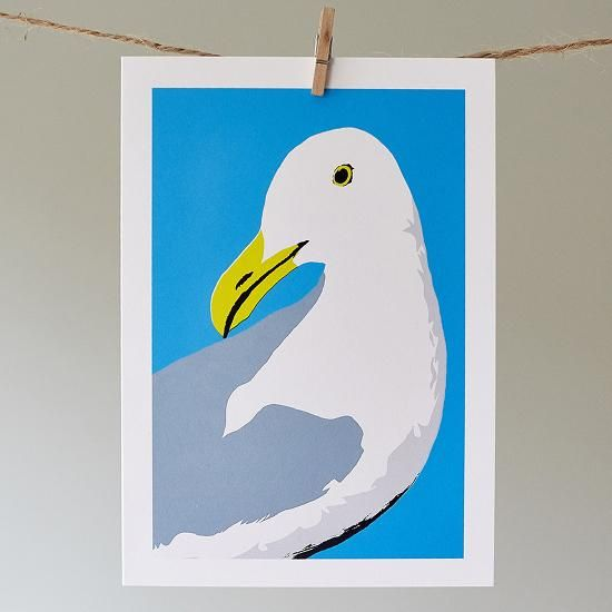 Douglas the Seagull | Greeting Card | Sophie Mutter