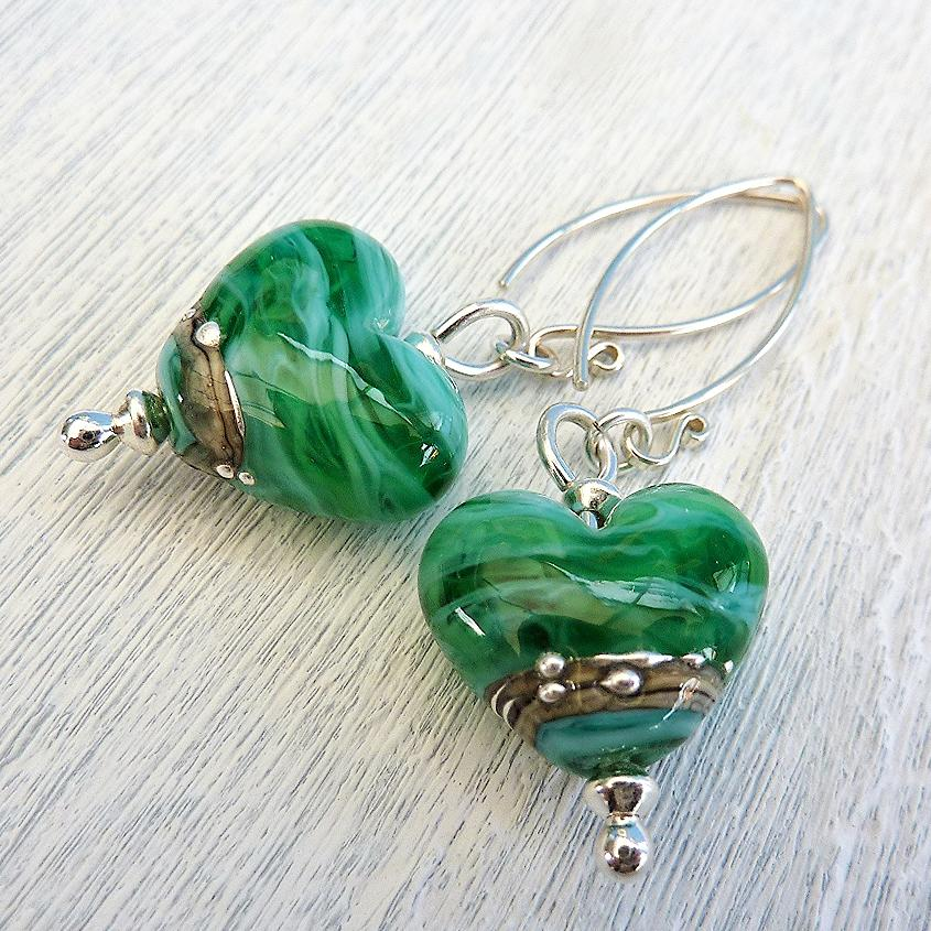 Sea Heart Earrings