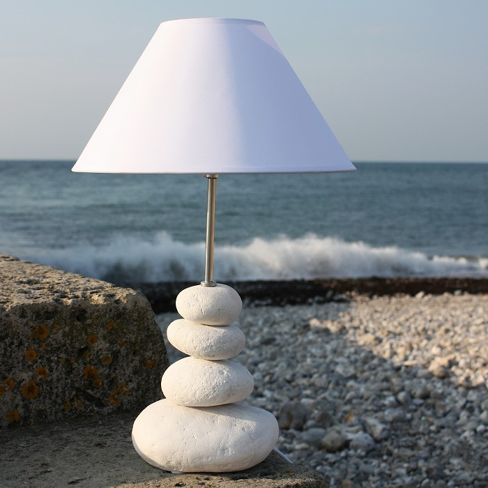 Shoreline pebble table lamp coastal lamp buy the sea aloadofball Choice Image