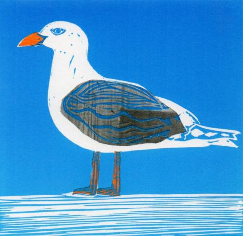 Sussex Seagull Coastal Card